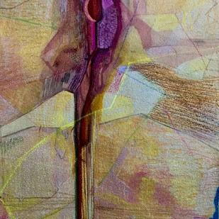 Mistress by Vipin Singh Rajput, Expressionism Painting, Watercolor and charcoal on paper, Brown color