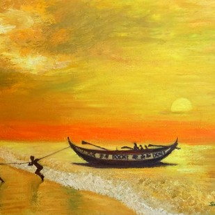 MYSTICAL SUNSET Digital Print by SWATI GHOSH,Impressionism