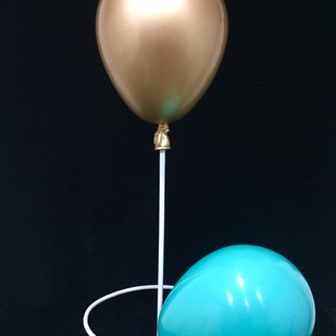 Balloons ( set of 2 ) by Vernika, Art Deco Sculpture | 3D, Fiber Glass, Blue color