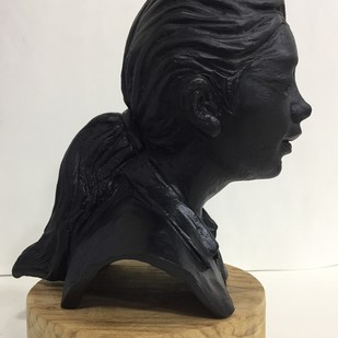 Girl from the train by Vernika, Abstract Sculpture   3D, Metal, Blue color