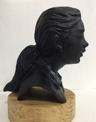 Girl from the train by Vernika, Abstract Sculpture | 3D, Metal, Blue color