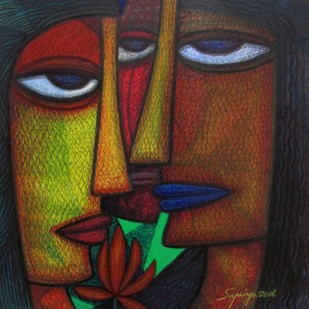 NEEDS by Supriyo Sahoo, Expressionism Painting, Acrylic & Ink on Paper, Brown color