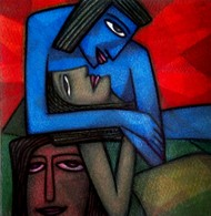 Needs by Supriyo Sahoo, Painting, Acrylic & Ink on Paper, Blue color