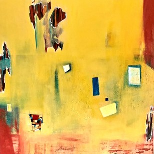 Untitled by Gauri Gulati, Abstract Painting, Acrylic on Canvas, Beige color