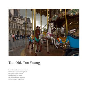 Too Old, Too Young by Berny & Philip, Image Photography, Print on Paper, White color