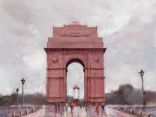 India Gate Digital Print by The Print Studio,Digital