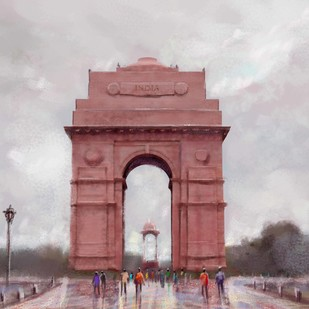 India Gate Digital Print by The Print Studio,Digital