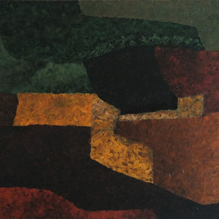 Untitled by Jaikishan Tada, Abstract Painting, Acrylic on Canvas, Brown color