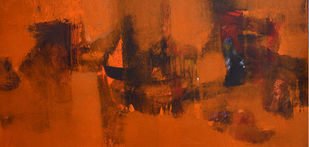 Untitled by Khilavan, Abstract Painting, Oil on Canvas, Brown color