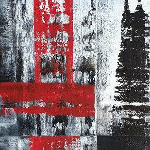 Abstracto 1 by Sweety Gupta , Abstract Painting, Acrylic on Canvas, Gray color
