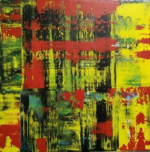 Abstracto 2 by Sweety Gupta , Abstract Painting, Acrylic on Canvas, Green color