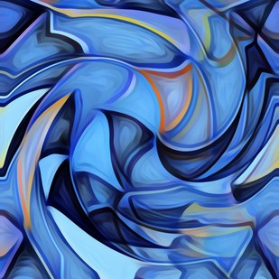 Abstract by A S Pithadia, Digital Painting, Digital Print on Canvas, Blue color