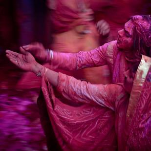 Incredible India... Incredible Holi... II by Ravindra Kumar Tanwar, Image Photography, Digital Print on Archival Paper, Purple color
