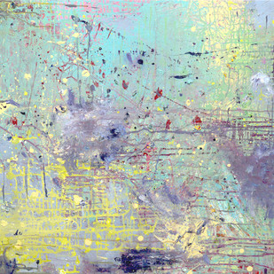 When I Miss You by Priyadarshini Ohol, Abstract Painting, Acrylic on Canvas, Cyan color