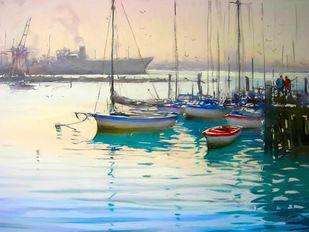 Calm Water Digital Print by The Print Studio,Impressionism