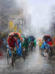 Monsoon Magic Digital Print by The Print Studio,Impressionism