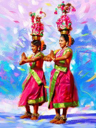 Dancer- Karagam Digital Print by The Print Studio,Expressionism