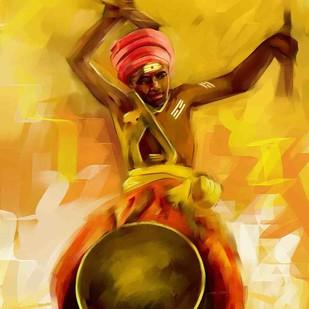 Drummer -1 Digital Print by The Print Studio,Impressionism