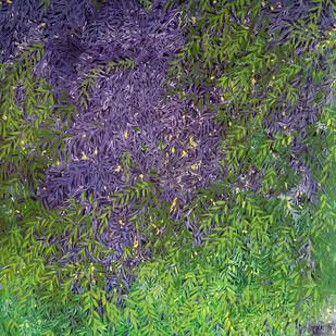 Untitled by Palash chandra naskar, Abstract Painting, Acrylic on Canvas, Green color