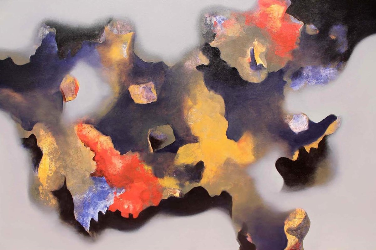 Cool Dream by Yashpal, Abstract Painting, Acrylic on Canvas, Brown color