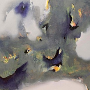 Love beyond Heart by Yashpal, Abstract Painting, Acrylic on Canvas, Gray color