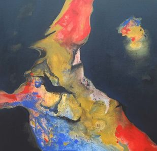 freedom of love by Yashpal, Abstract Painting, Acrylic on Canvas, Blue color