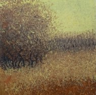 Frosted Forest by Vimal Chand, Expressionism Painting, Acrylic on Canvas, Brown color
