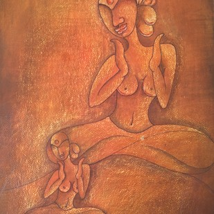 PRATIBIMB by Nidhi Jaiswal, Expressionism Painting, Watercolor Wash on Paper, Brown color