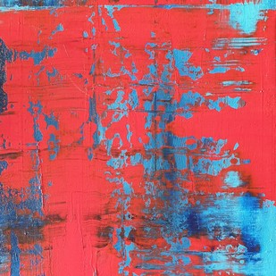 Abstracto 9 by Sweety Gupta , Abstract Painting, Acrylic on Canvas, Pink color