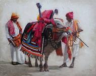 Gangireddu-07 by Iruvan Karunakaran, Expressionism Painting, Acrylic on Canvas, Gray color