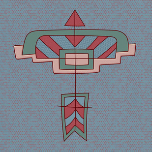 Arrow 08 by KS Guruprasad, Geometrical Digital Art, Digital Print on Archival Paper, Green color