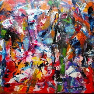 Hotter than Hell by Raushan Kumar, Abstract Painting, Acrylic on Canvas, Brown color