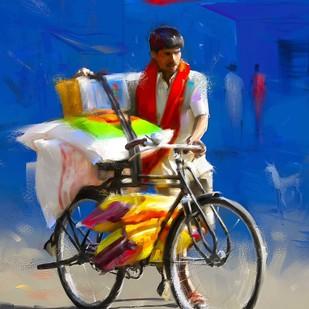 Seller on Cycle-11 Digital Print by The Print Studio,Digital