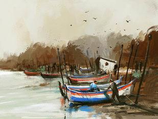 By The Shore - 1 Digital Print by The Print Studio,Digital