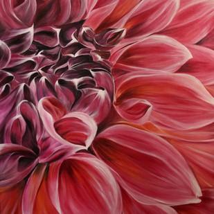 Dahlia by Shveta Saxena, Realism Painting, Acrylic on Canvas, Brown color