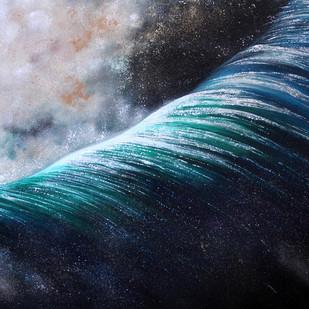 Spray by Shveta Saxena, Realism Painting, Acrylic on Canvas, Blue color