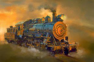 The SteamEngine Digital Print by The Print Studio,Digital
