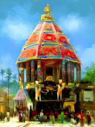 Chariot of the Gods- 02 Digital Print by The Print Studio,Digital