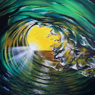 Brilliance by Shveta Saxena, Impressionism Painting, Acrylic on Canvas, Green color
