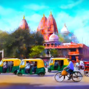 Blusukan- Old Delhi Digital Print by The Print Studio,Digital