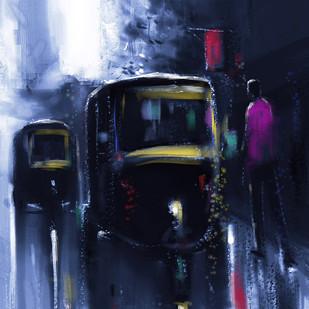 A ride in the Dark Digital Print by The Print Studio,Digital