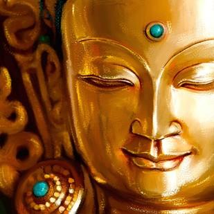 Golden Buddha Digital Print by The Print Studio,Digital