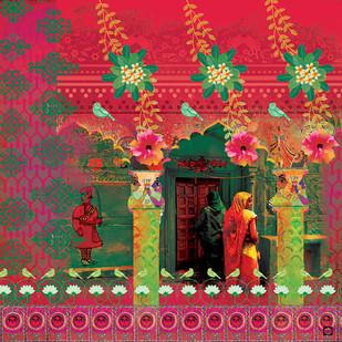 MITHILA MADHUBANI - 2 by Priyanka Kaushal, Digital Digital Art, Digital Print on Canvas, Brown color