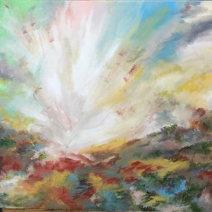 Explosive by Tvesha Singh, Abstract Painting, Acrylic on Canvas, Brown color