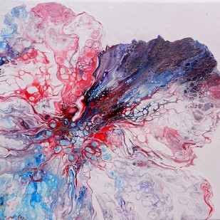 BLOOM 13 by kakali sanyal, Abstract Painting, Acrylic on Canvas, Pink color