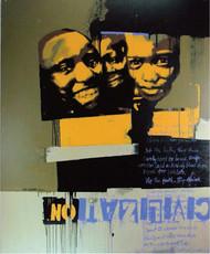 SOMALIA by ALAY KUMAR, Pop Art Painting, Acrylic on Canvas, Brown color