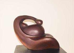 Inner Voice by Rajendra Pradhan, Art Deco Sculpture | 3D, Bronze, Beige color