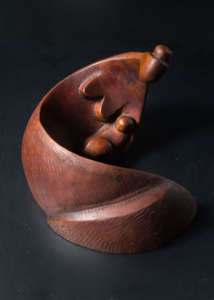 Motherly by Rajendra Pradhan, Art Deco Sculpture | 3D, Bronze, Brown color