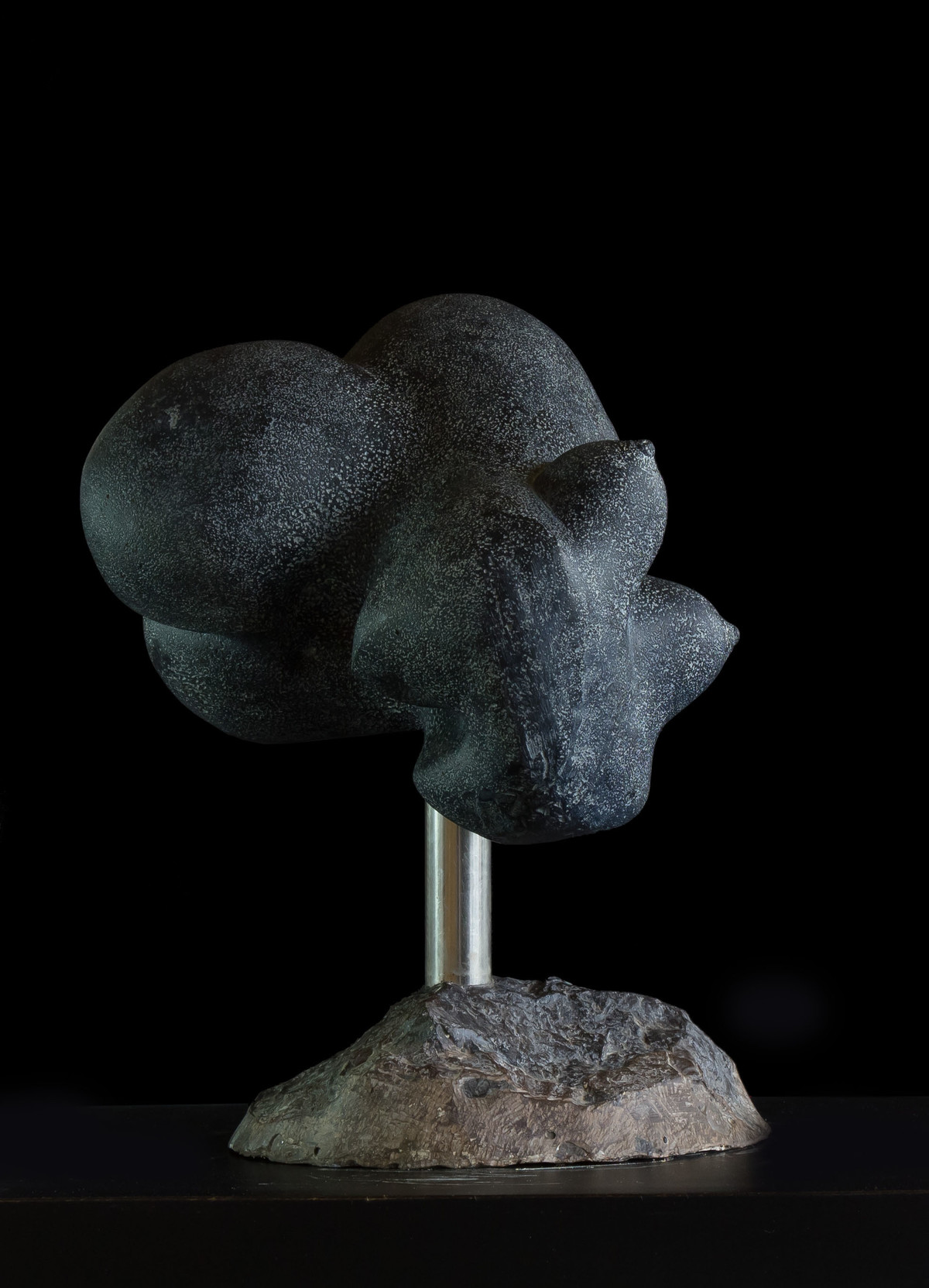 Pregnant Torso by Rajendra Pradhan, Art Deco Sculpture   3D, Clay & Resin, Black color
