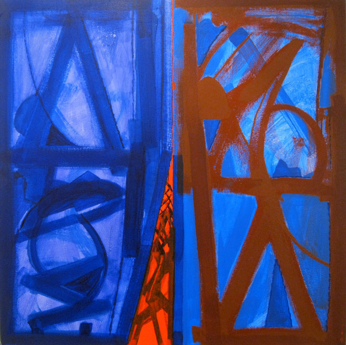 Nature Moods by Ramesh Anand , Abstract Painting, Acrylic on Canvas, Blue color